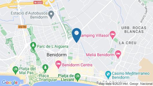 Sandos Benidorm Suites Map