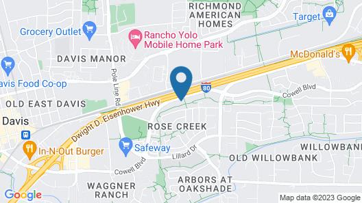 Hyatt House Davis Map