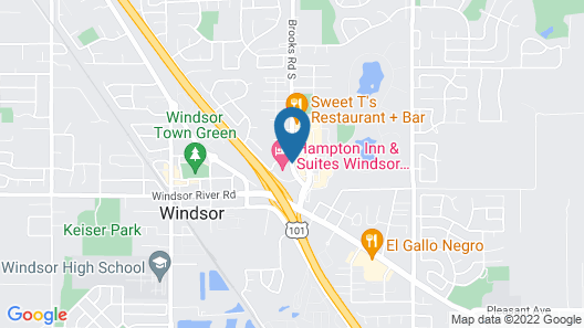 Hampton Inn & Suites Windsor - Sonoma Wine Country Map