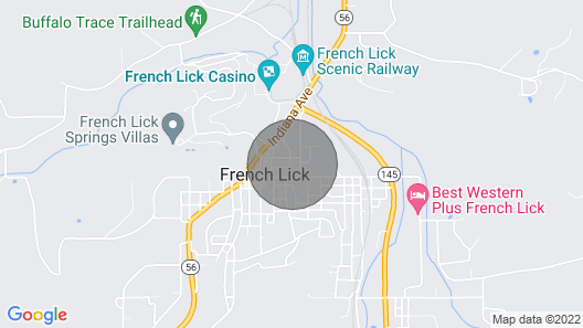 Charming,cozy, Cottage - French Lick Quarters - Walk Casino/resort, Pubs, Etc Map