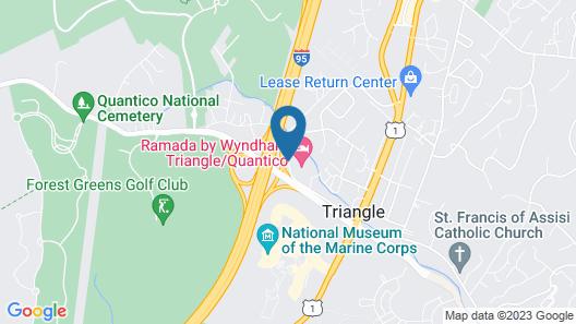 Ramada by Wyndham Triangle/Quantico Map