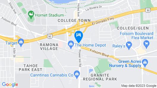 Rodeway Inn Sacramento-University Area Map