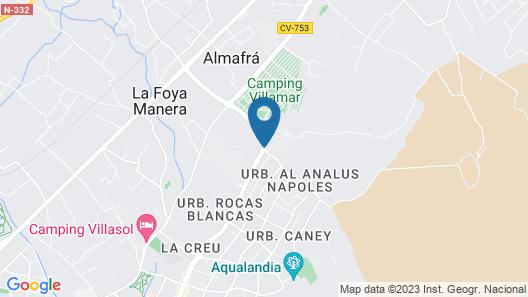 Camping Arena Blanca Map