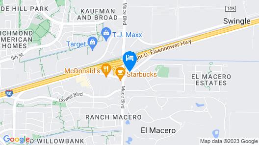 Motel 6 Davis, CA - Sacramento Area Map