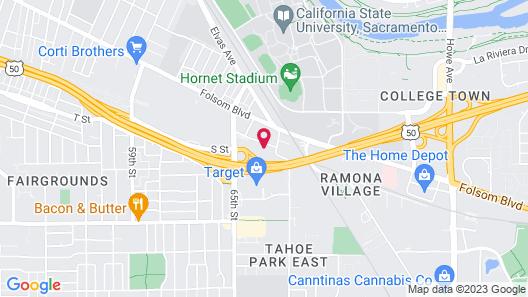 Hampton Inn & Suites Sacramento at Csus Map