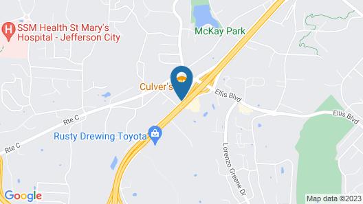 Econo Lodge Jefferson City Map