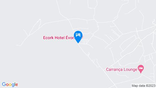 Ecork Hotel Evora Map