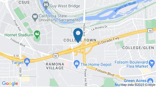 Motel 6 Sacramento, CA - Central Map