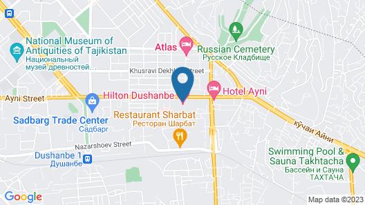 Hilton Dushanbe Map