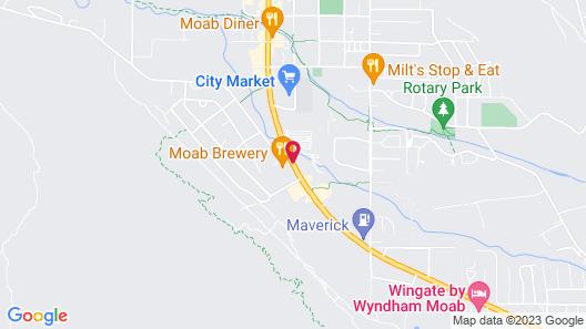 Moab Lodging Vacation Rentals Map