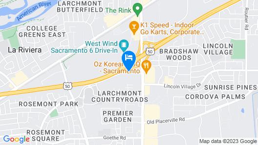 Travelodge by Wyndham Sacramento / Rancho Cordova Map