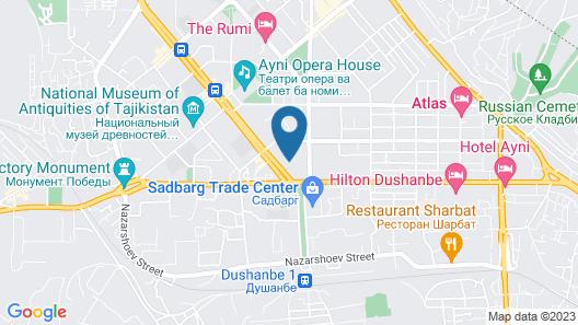 Dushanbe Serena Hotel Map