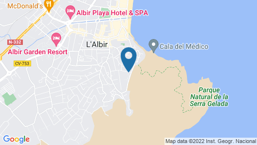 Dream Villa in Albir Map