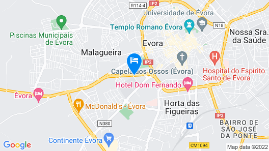 Vila Gale Evora Map