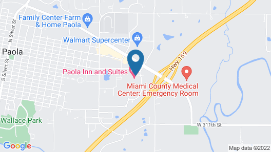 Paola Inn And Suites Map