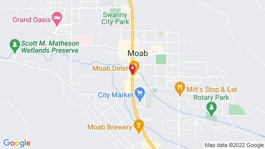 Hotel Moab Downtown Map
