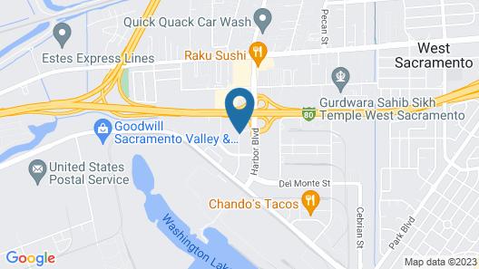 Motel 6 West Sacramento, CA Map