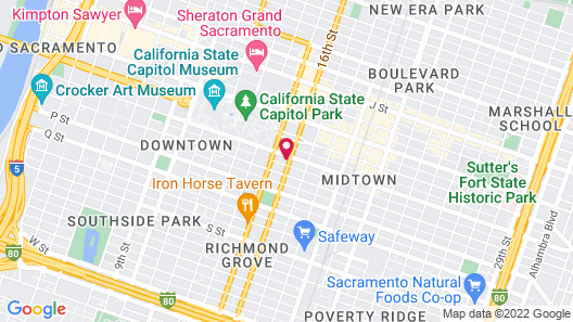 Inn Off Capitol Park, Ascend Hotel Collection Map