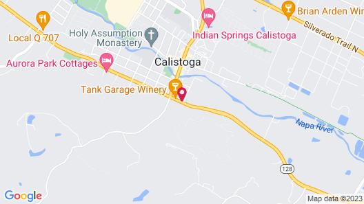 Calistoga Wine Way Inn Map