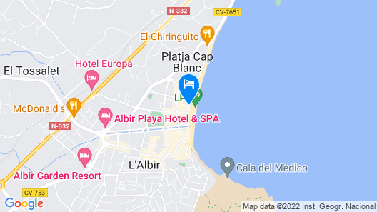Luxurious Apartment in L'albir With Terrace Map