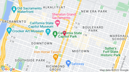 Residence Inn Sacramento Downtown at Capitol Park Map