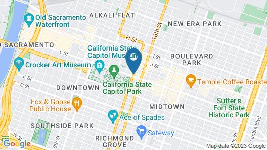 Residence Inn Sacramento Downtown at Capitol Park Map