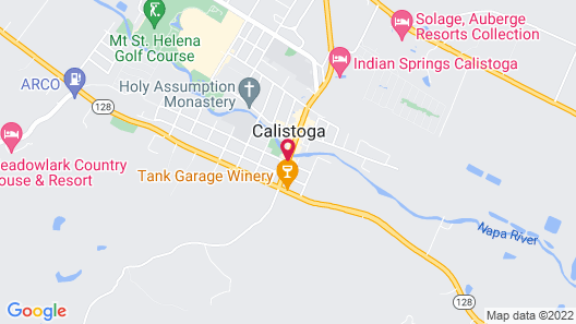 Calistoga Inn Restaurant and Brewery Map