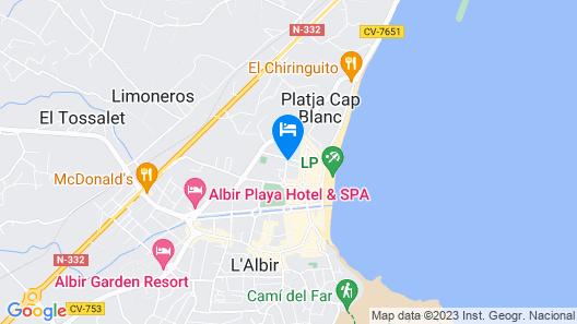 Sunny apartment in Albir el Point Map