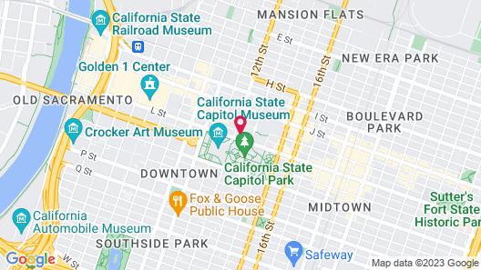 Hyatt Regency Sacramento Map