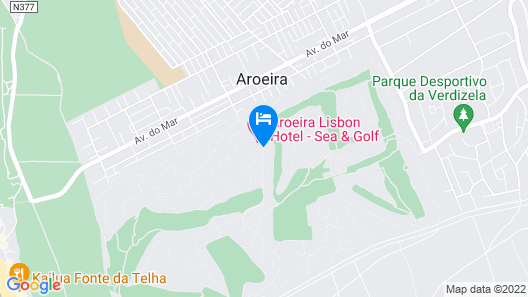Aroeira Lisbon Hotel - Sea & Golf Hotel Map