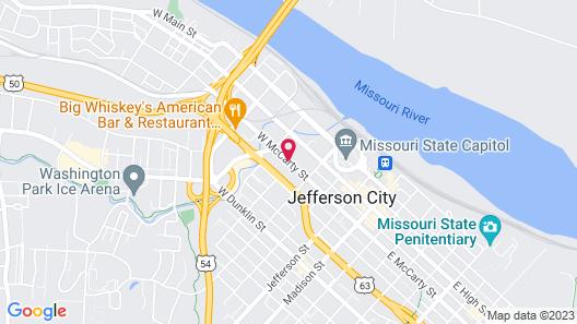 Capitol Plaza Hotel Jefferson City Map