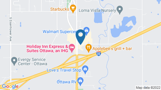Econo Lodge Interstate 35 Exit 183 Map