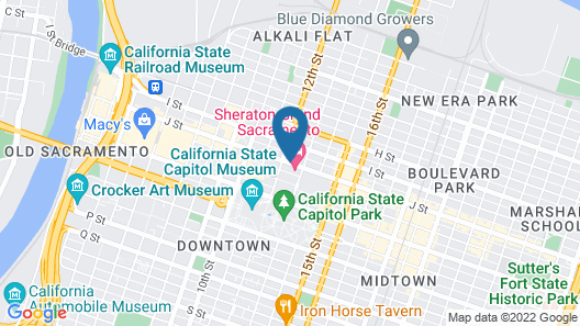 Sheraton Grand Sacramento Hotel Map