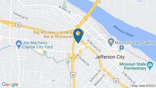 Courtyard by Marriott Jefferson City Map