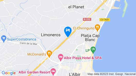 Hotel Noguera El Albir  Map