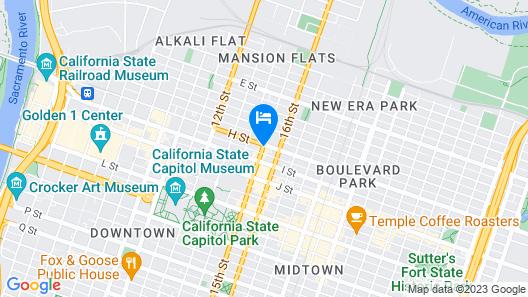 Quality Inn Sacramento Convention Center Map