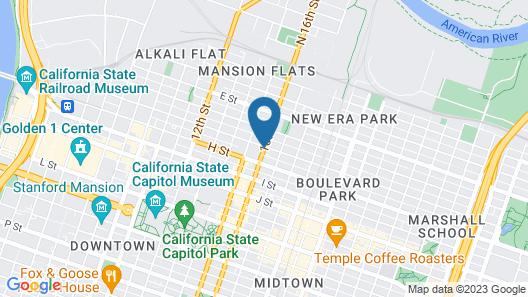 Econo Lodge Sacramento Convention Center Map