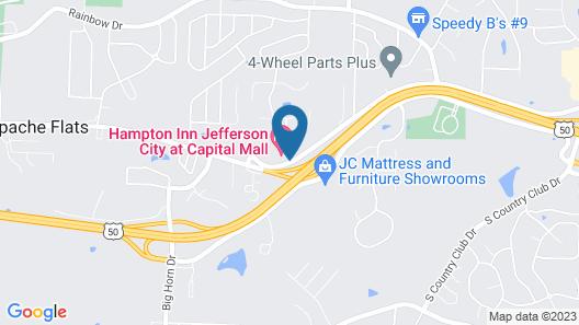 Comfort Suites Jefferson City Map