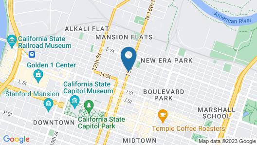Travelodge by Wyndham Sacramento Convention Center Map