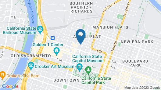 HI Sacramento Hostel Map