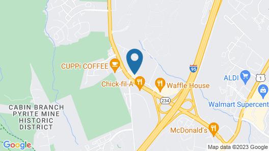 Comfort Inn Near Quantico Main Gate North Map