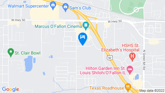 Candlewood Suites O Fallon Map