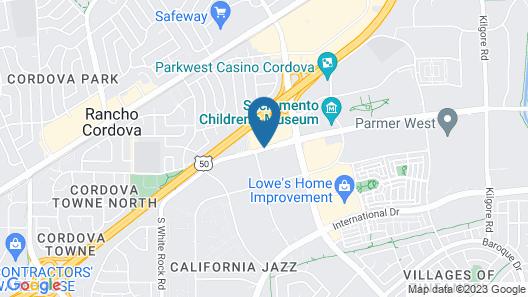 Courtyard by Marriott Rancho Cordova Sacramento Map
