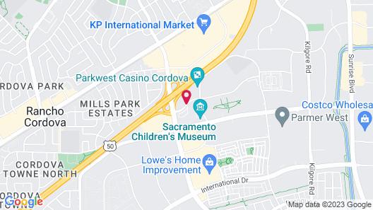 Hampton Inn Rancho Cordova Map