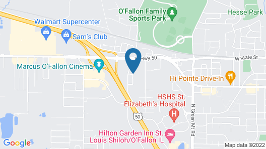 Best Western O'Fallon Hotel Map