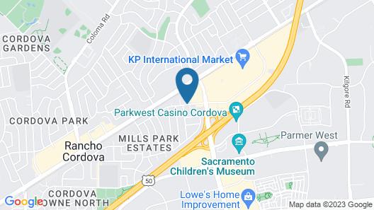 Motel 6 Rancho Cordova, CA - Rancho Cordova East Map
