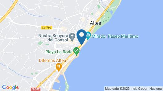 Hostal Casa del Mar Map