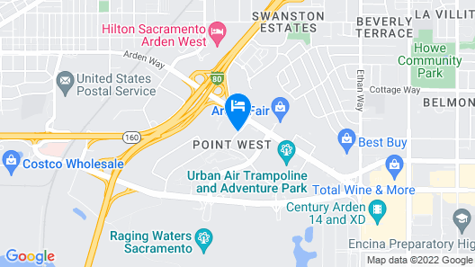 DoubleTree by Hilton Sacramento Map