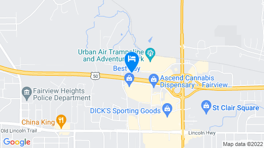 Country Inn & Suites by Radisson, Fairview Heights, IL Map