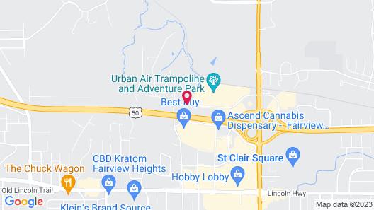 Comfort Suites Fairview Heights Map